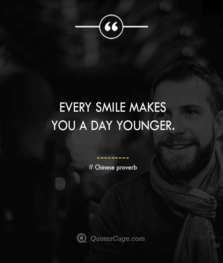 Chinese proverb quotes about Smile