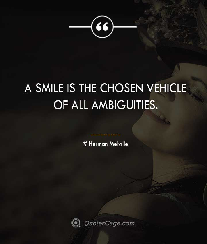 Herman Melville smile quotes