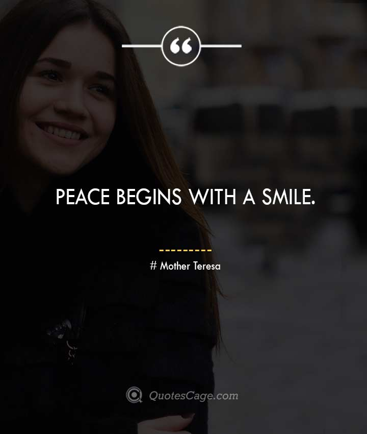 Mother Teresa quotes about Smile 2