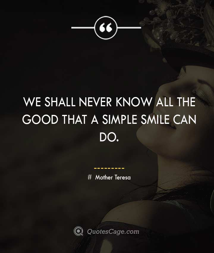 Mother Teresa quotes about Smile