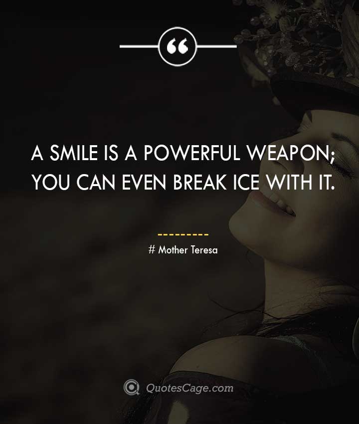 Mother Teresa smile quotes