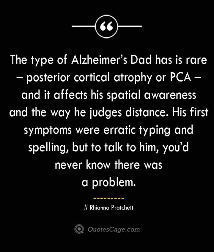 Rhianna Pratchett Quotes about Alzheimer