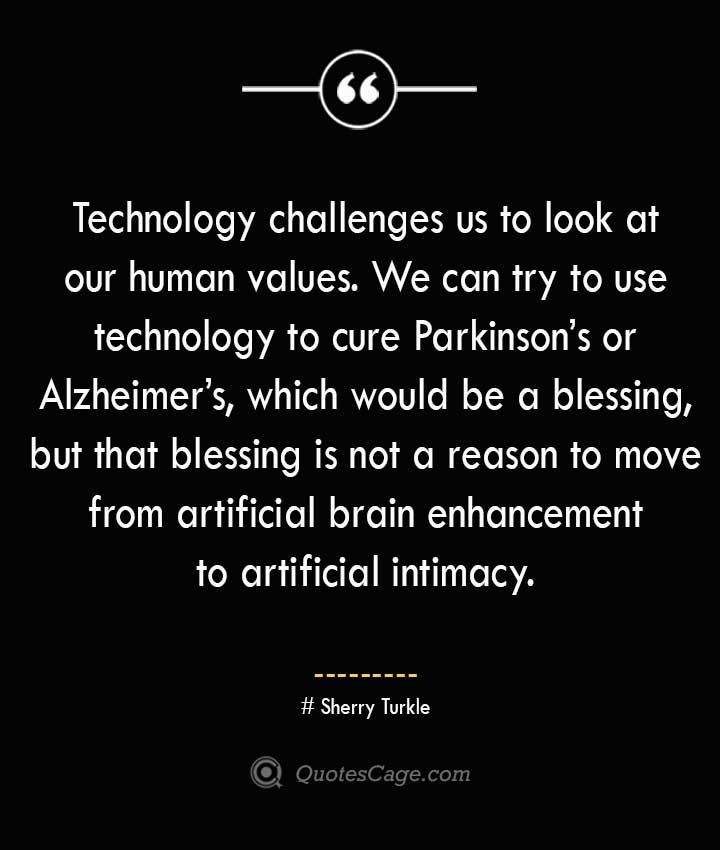 Sherry Turkle Quotes about Alzheimer