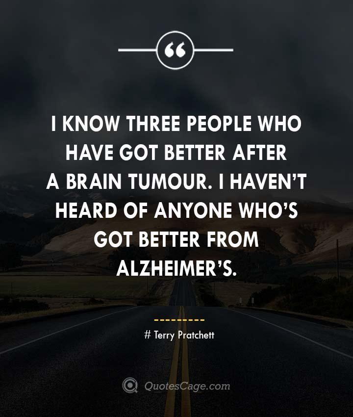 Terry Pratchett Quotes about Alzheimers