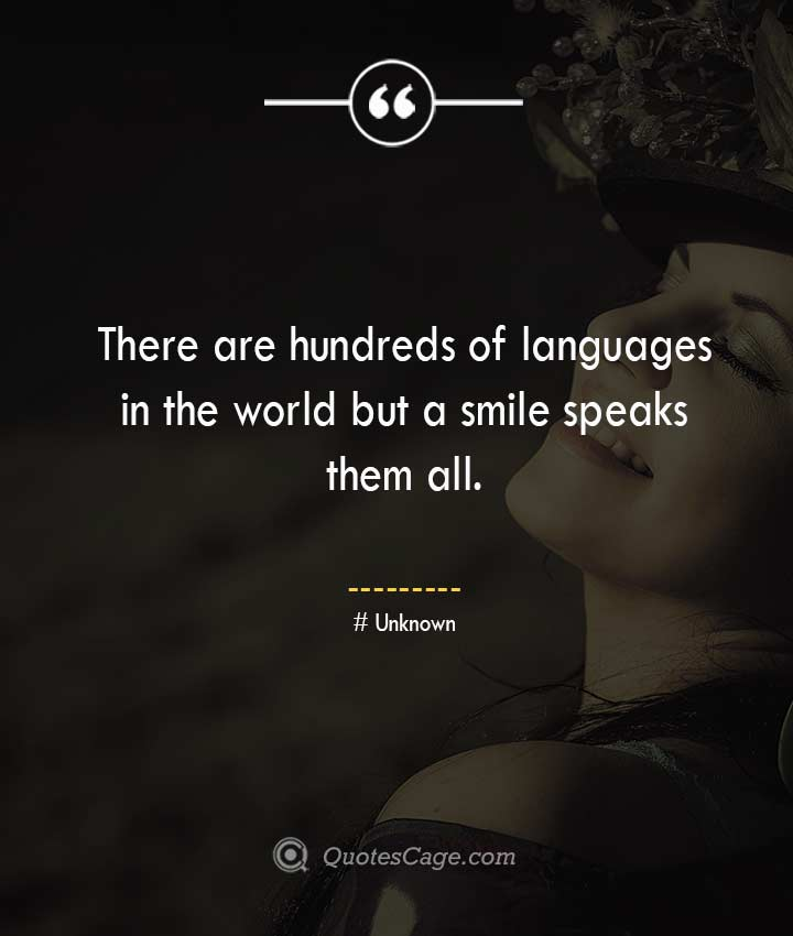 Unknown smile quotes