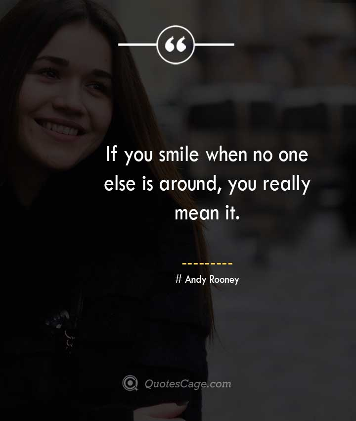 Andy Rooney quotes about Smile