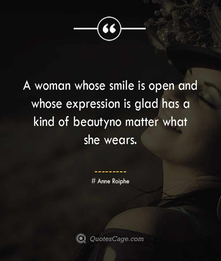 Anne Roiphe quotes about Smile