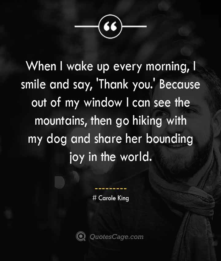 Carole King quotes about Smile