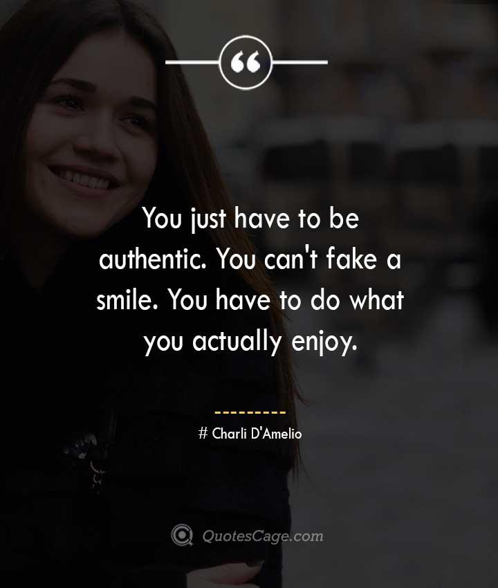 Charli DAmelio quotes about Smile