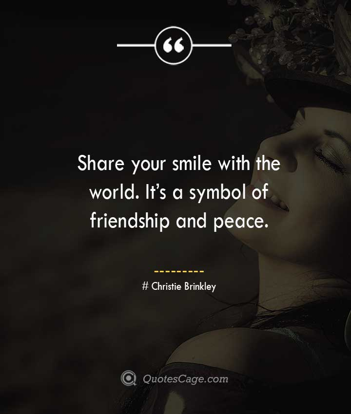 Christie Brinkley quotes about Smile
