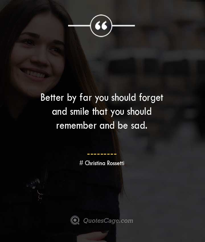 Christina Rossetti quotes about Smile