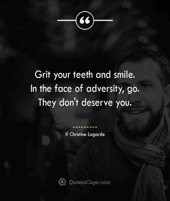 Christine Lagarde quotes about Smile