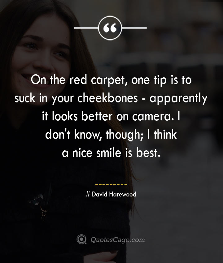 David Harewood quotes about Smile