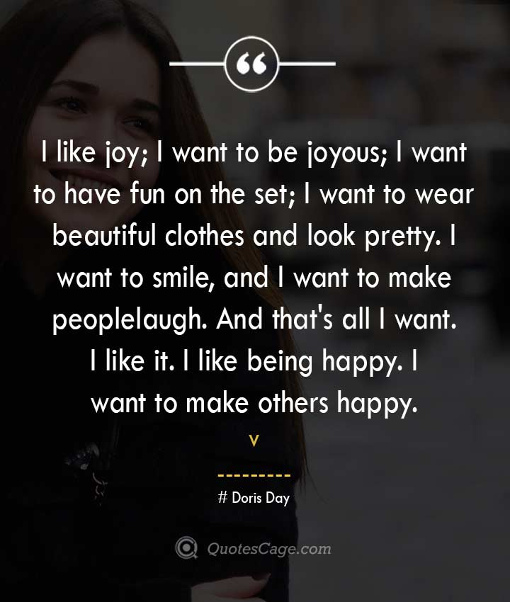 Doris Day quotes about Smile
