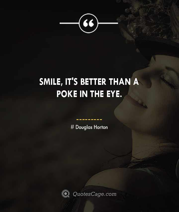 Douglas Horton quotes about Smile