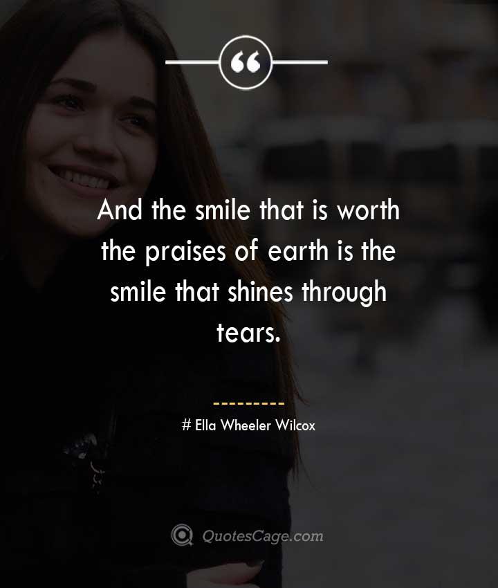Ella Wheeler Wilcox quotes about Smile