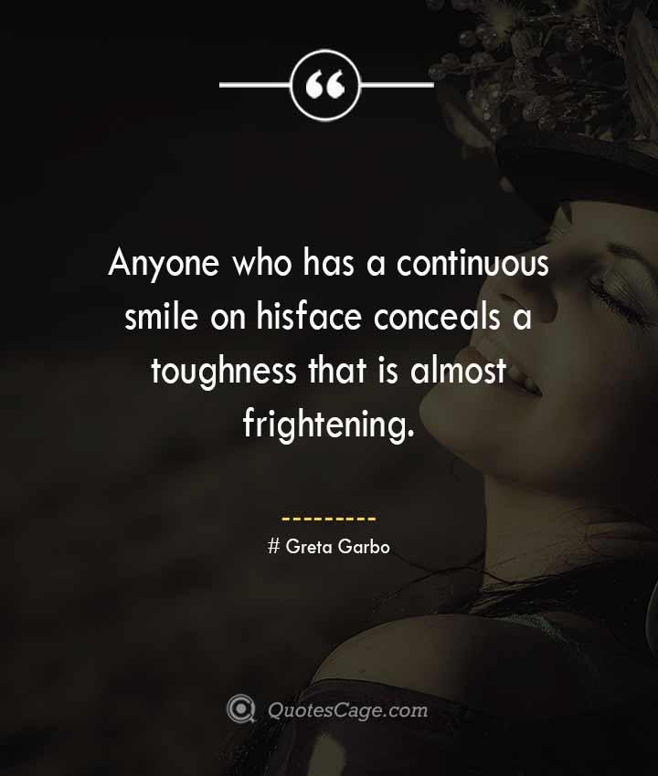 Greta Garbo quotes about Smile