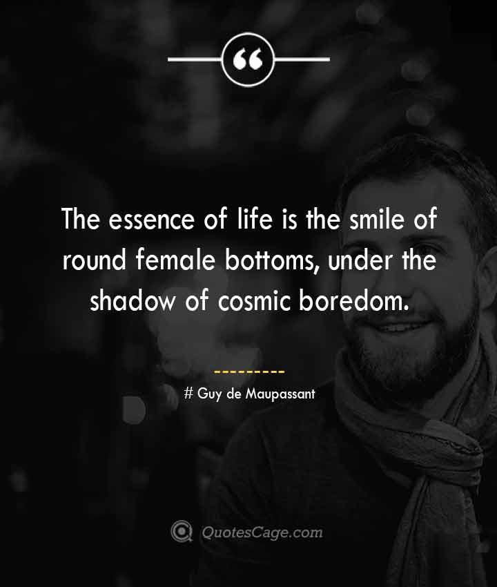 Guy de Maupassant quotes about Smile
