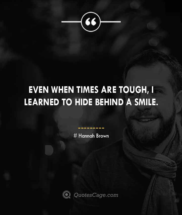 Hannah Brown quotes about Smile