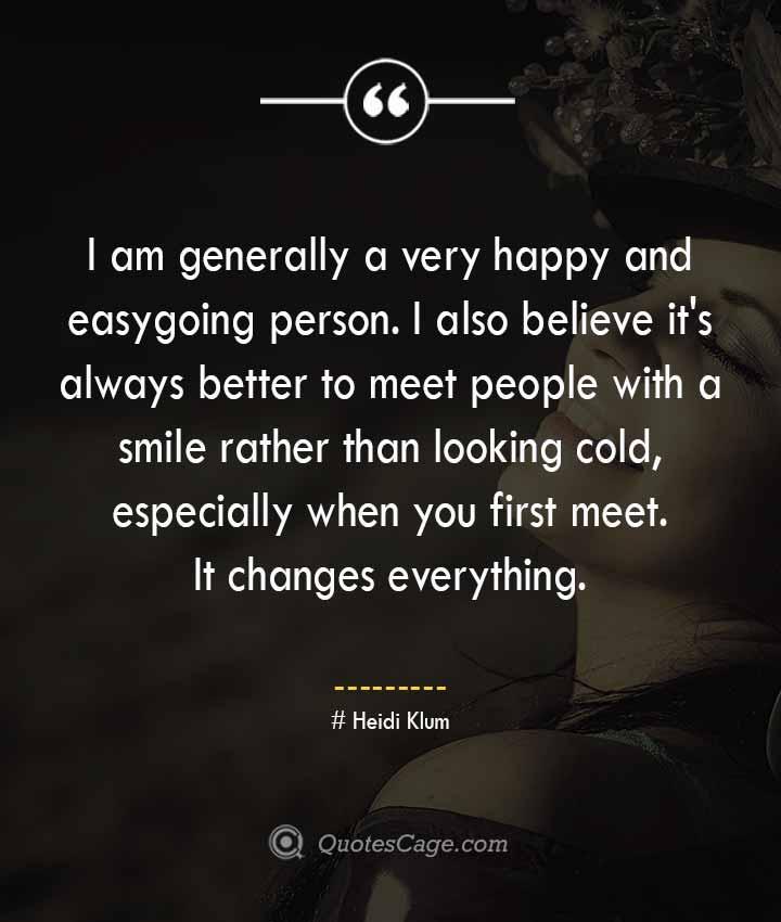 Heidi Klum quotes about Smile