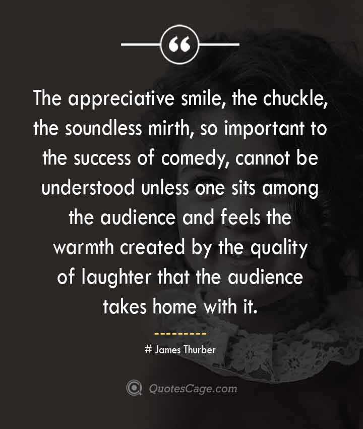 James Thurber quotes about Smile