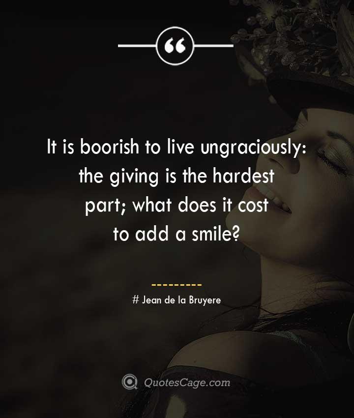 Jean de la Bruyere quotes about Smile