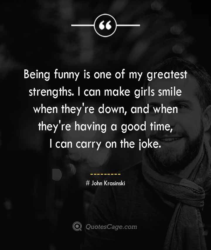 John Krasinski quotes about Smile