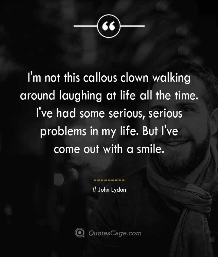 John Lydon quotes about Smile