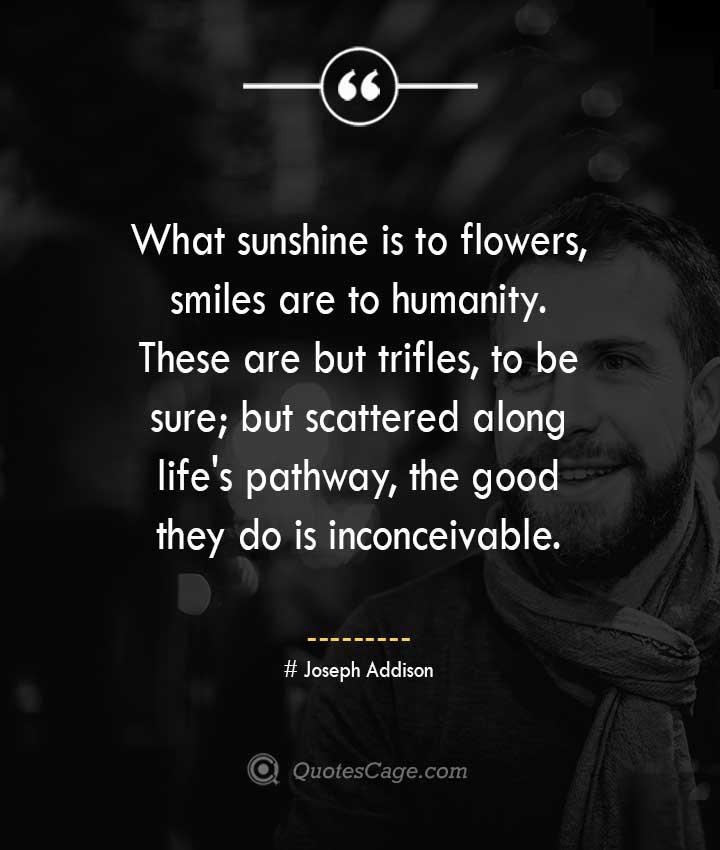 Joseph Addison quotes about Smile 1