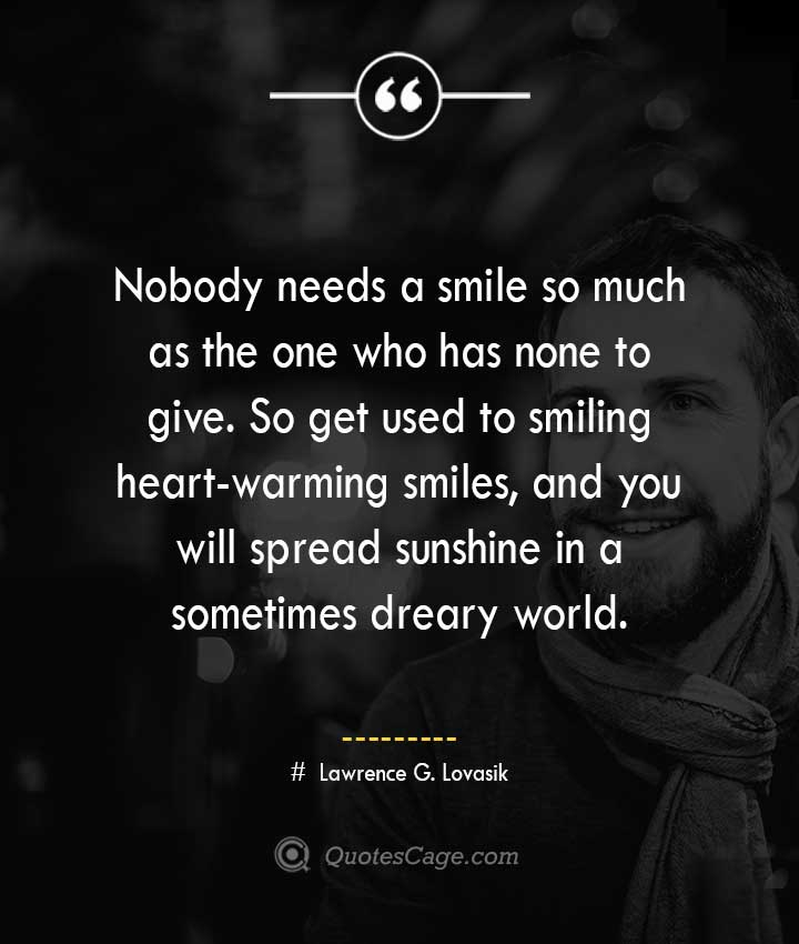 Lawrence G. Lovasik quotes about Smile
