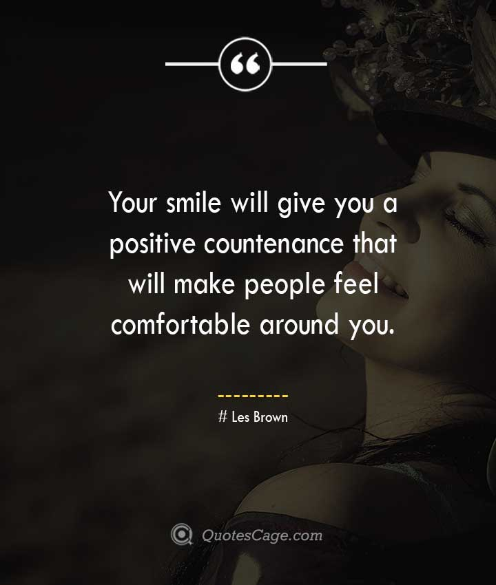 Les Brown quotes about Smile