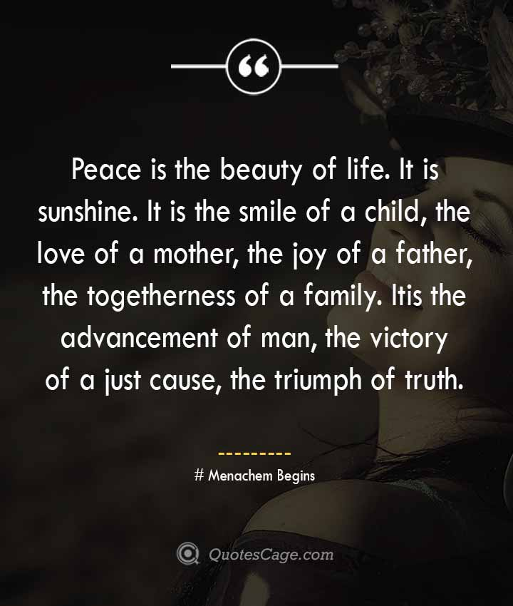 Menachem Begins quotes about Smile