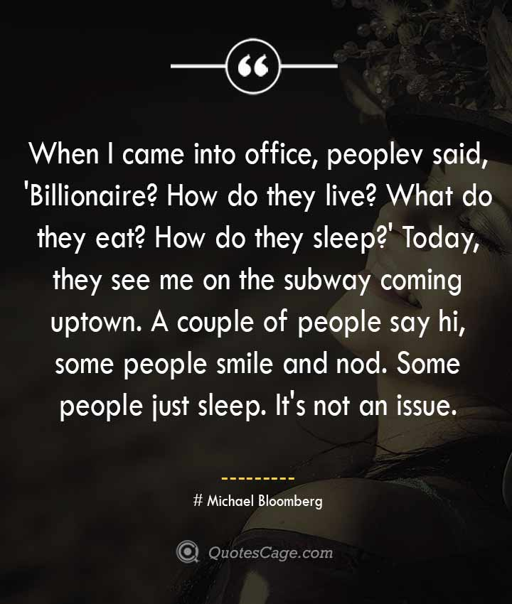 Michael Bloomberg quotes about Smile