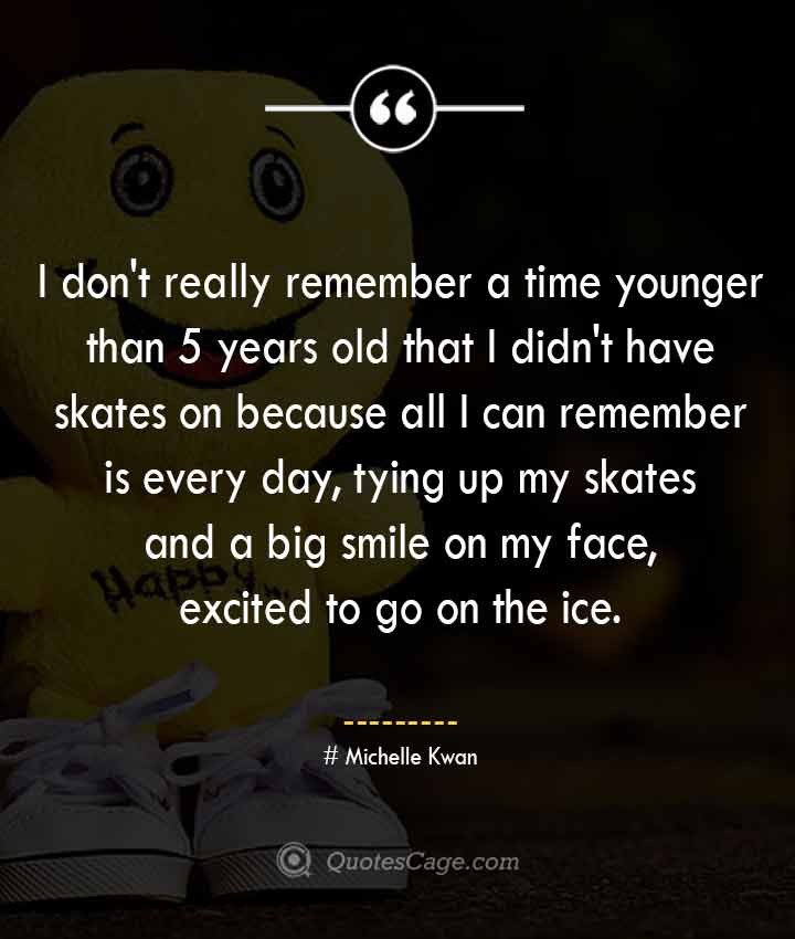 Michelle Kwan quotes about Smile
