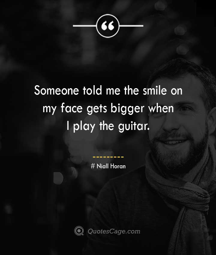 Niall Horan quotes about Smile