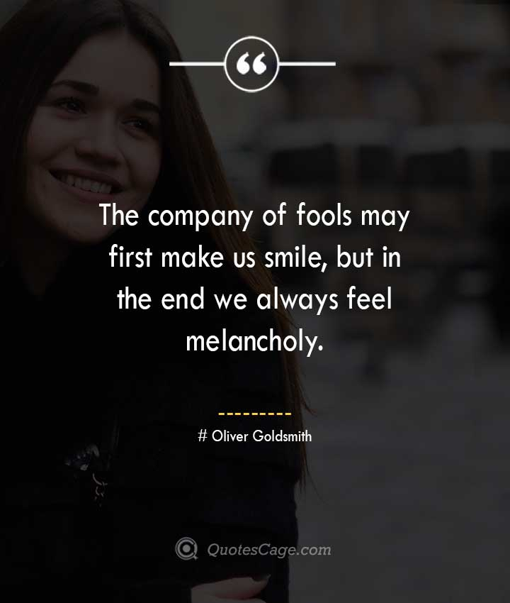 Oliver Goldsmith quotes about Smile