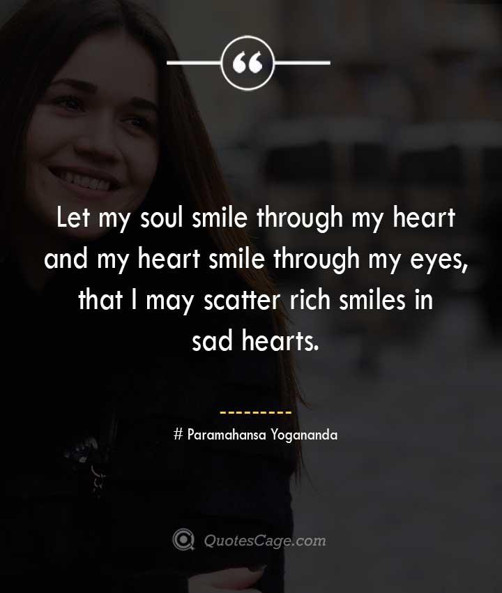 Paramahansa Yogananda quotes about Smile