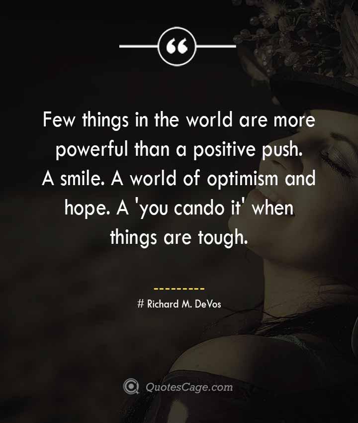 Richard M. DeVos quotes about Smile
