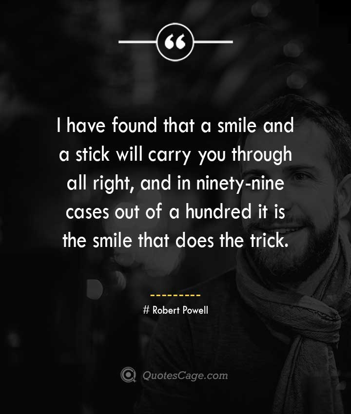 Robert Powell quotes about Smile