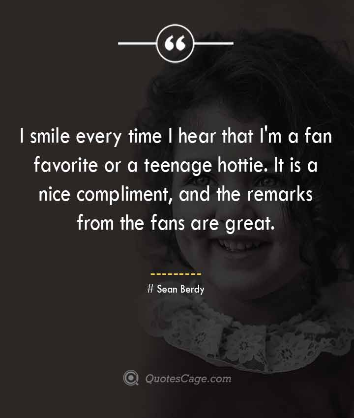 Sean Berdy quotes about Smile