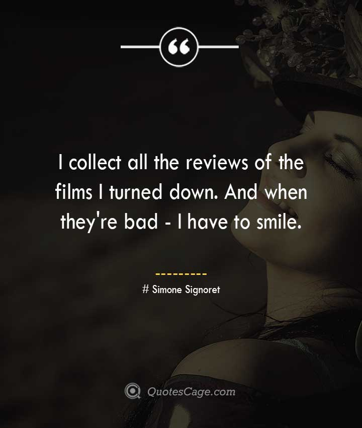 Simone Signoret quotes about Smile