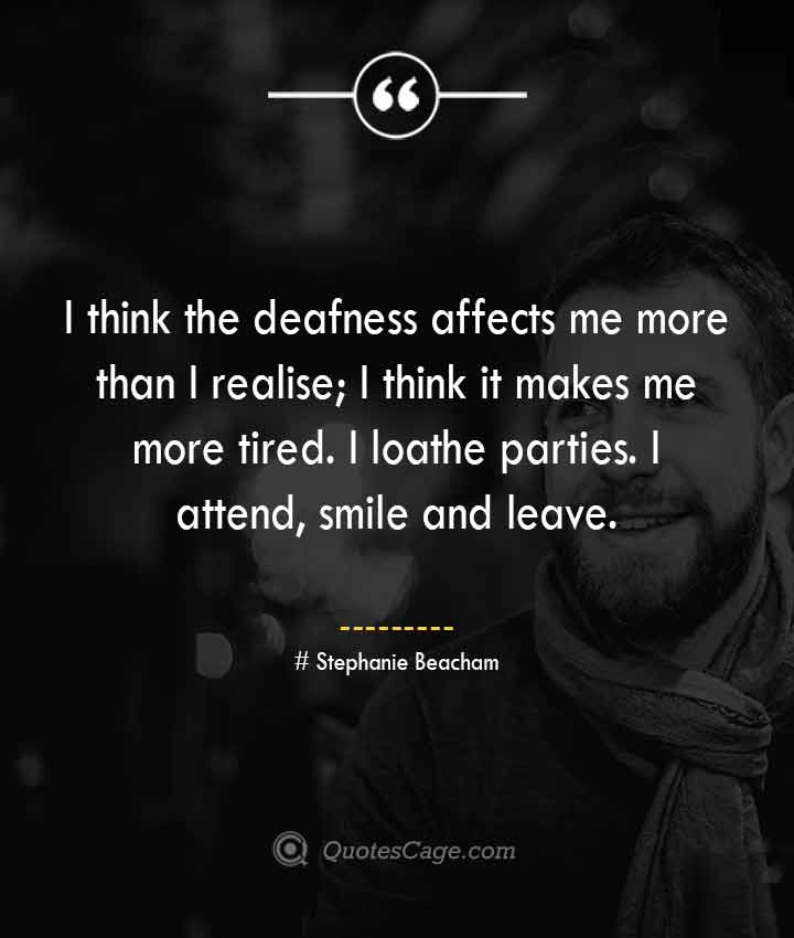 Stephanie Beacham quotes about Smile
