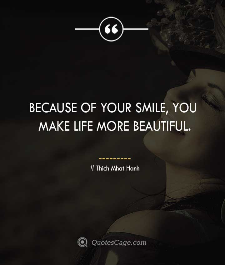 Thich Mhat Hanh quotes about Smile