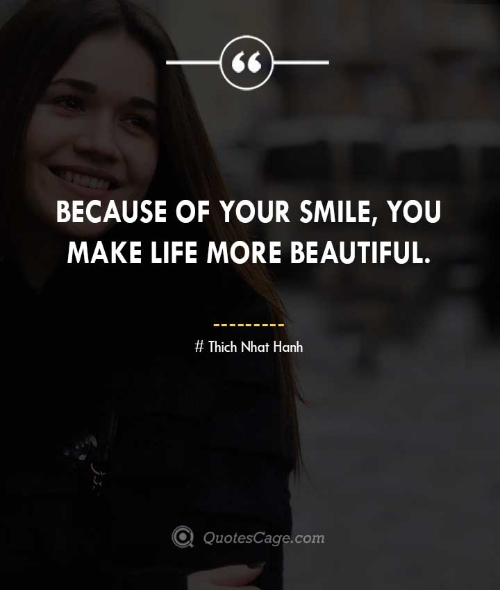 Thich Nhat Hanh quotes about Smile 2