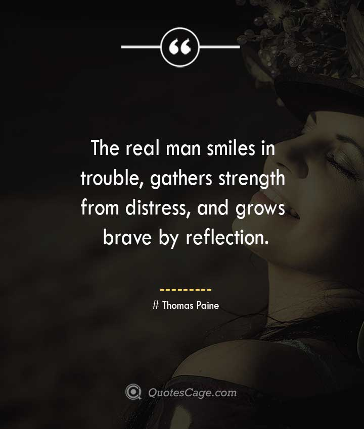 Thomas Paine quotes about Smile