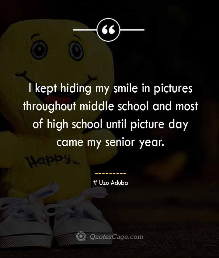 Uzo Aduba quotes about Smile
