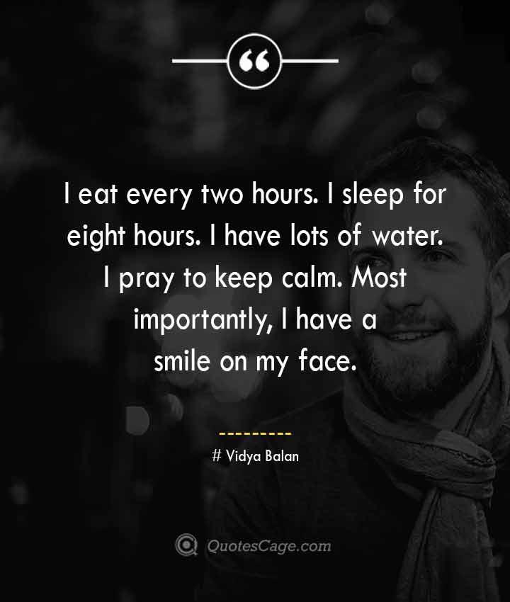 Vidya Balan quotes about Smile