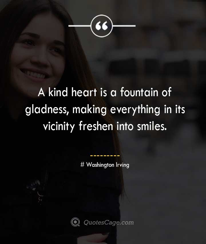 Washington Irving quotes about Smile