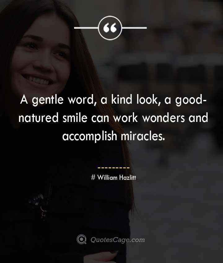 William Hazlitt quotes about Smile