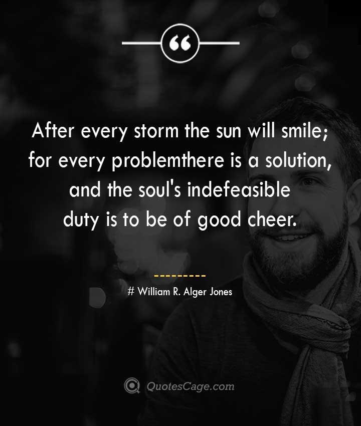 William R. Alger Jones quotes about Smile